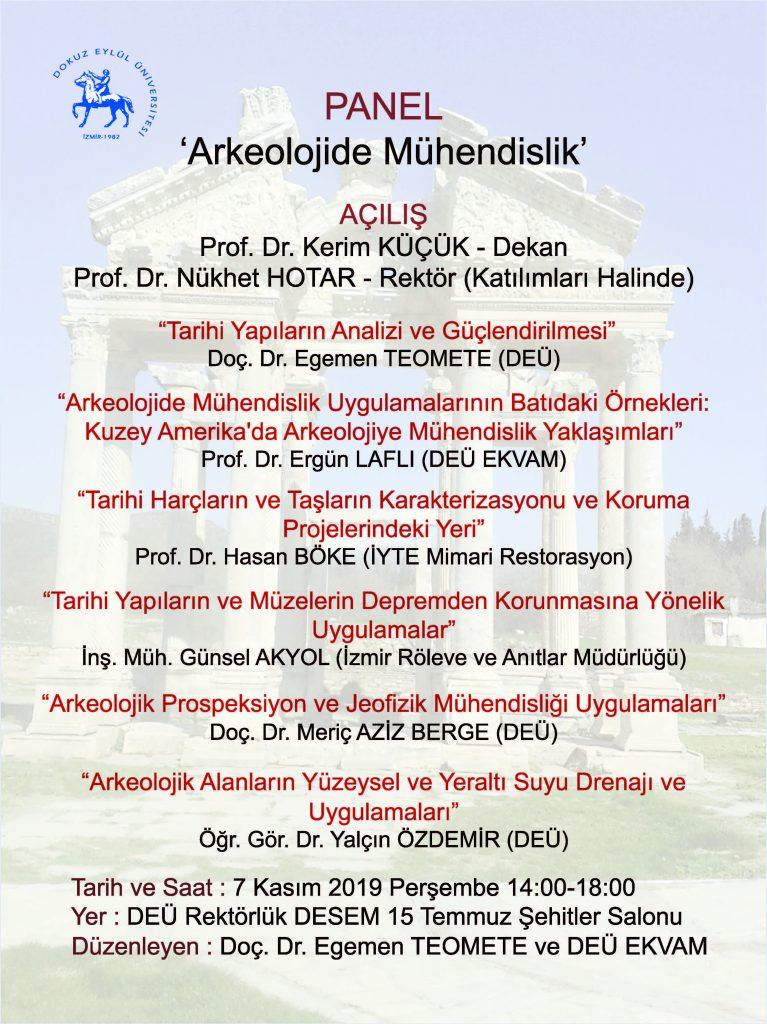 Arkeolojide Muhendislik Paneli